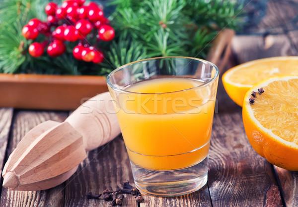 Navidad decoración naranja beber vidrio frutas Foto stock © tycoon