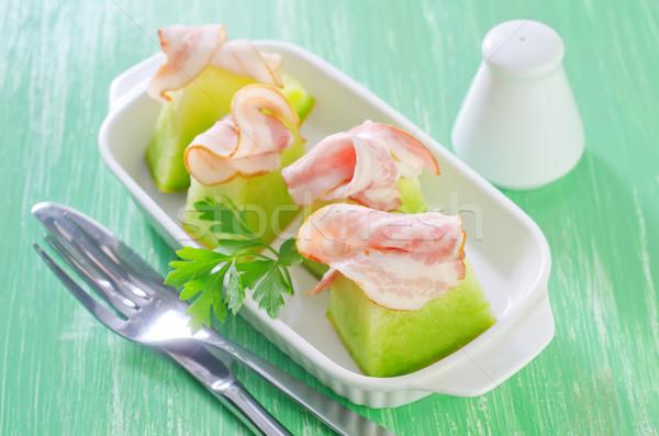 Presunto melão comida laranja carne fresco Foto stock © tycoon