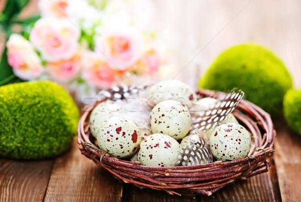 装飾的な 描いた イースターエッグ 色 卵 イースター ストックフォト © tycoon