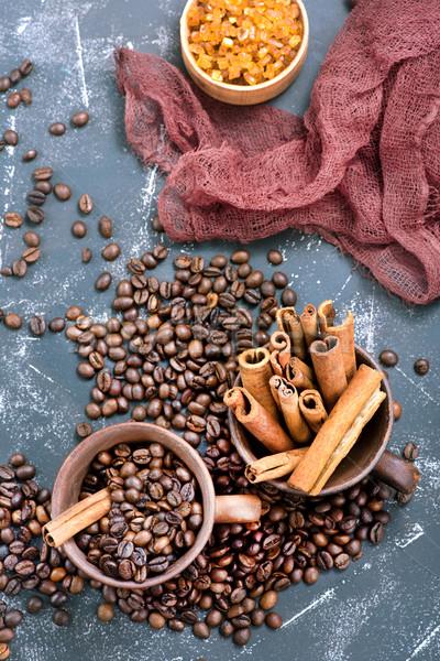 Grãos de café copo tabela textura abstrato fundo Foto stock © tycoon
