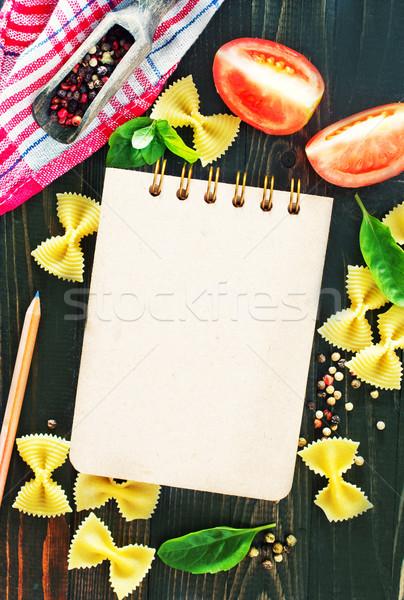 Stock foto: Merkzettel · Aroma · Gewürz · Tabelle · Papier · Essen