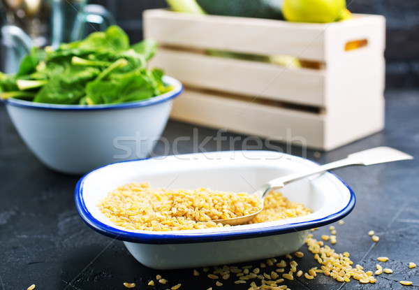 bulgur with spinach Stock photo © tycoon