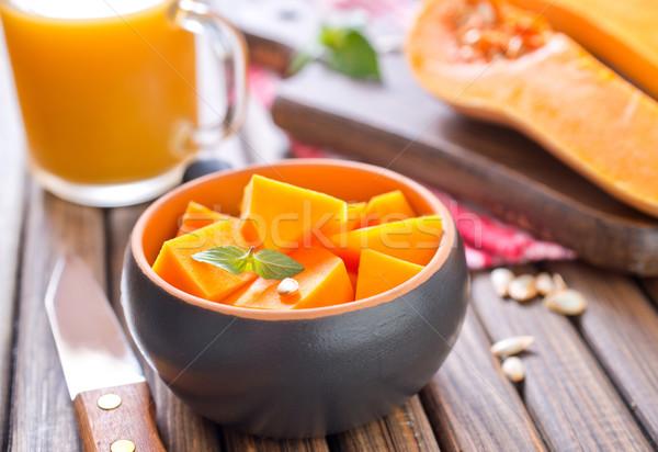 Abóbora madeira natureza fundo cozinha laranja Foto stock © tycoon