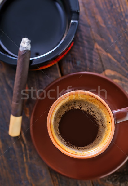 coffee and sigarette Stock photo © tycoon
