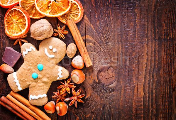 Cookie cookie przyprawy żywności drewna Zdjęcia stock © tycoon