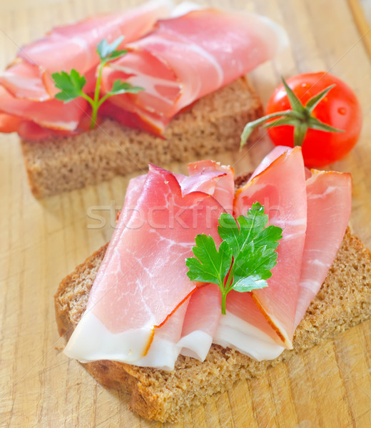 Sandwich prosciutto luce carne veloce fresche Foto d'archivio © tycoon