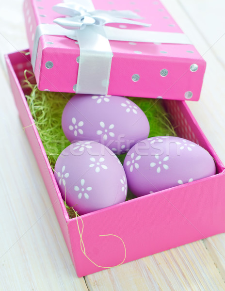 Húsvéti tojások húsvét tavasz tojás háttér keret Stock fotó © tycoon