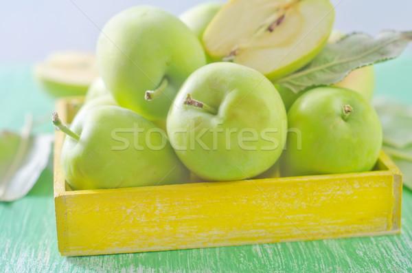fresh apples in yellow box Stock photo © tycoon