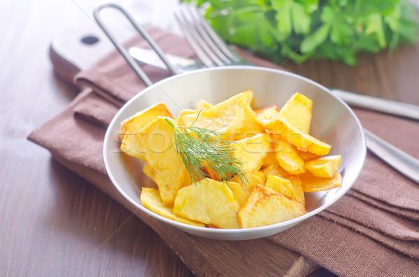 Stok fotoğraf: Patates · ev · arka · plan · Metal · akşam · yemeği