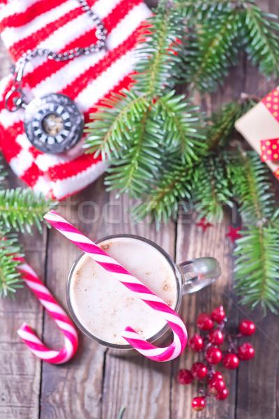 クリスマス ドリンク ガラス 表 幸せ 中心 ストックフォト © tycoon