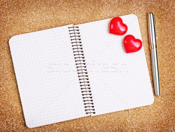 赤 心 注記 図書 表 愛 ストックフォト © tycoon