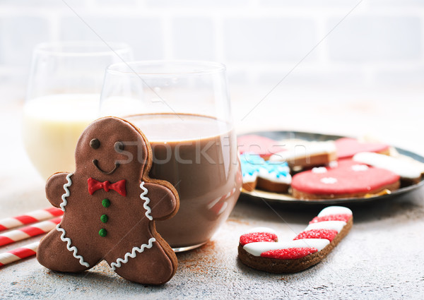 cocoa drink and gingerbread  Stock photo © tycoon