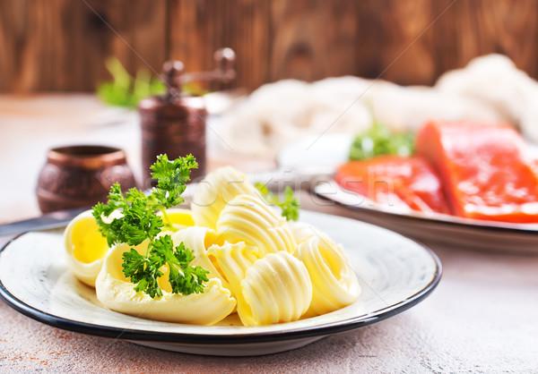Salmón peces mantequilla mesa stock foto Foto stock © tycoon