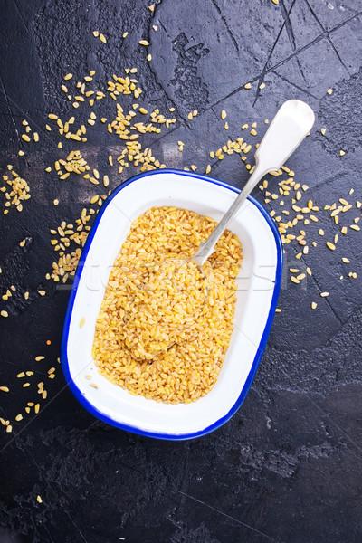 Tigela dieta comida tabela vida Foto stock © tycoon