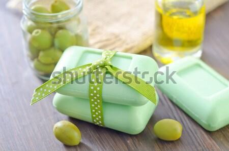 Camembert de uva queso verde alimentos Foto stock © tycoon