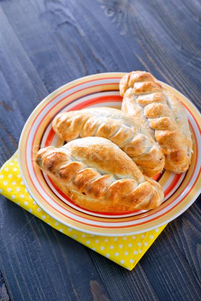 パイ 肉 食品 背景 キッチン グループ ストックフォト © tycoon