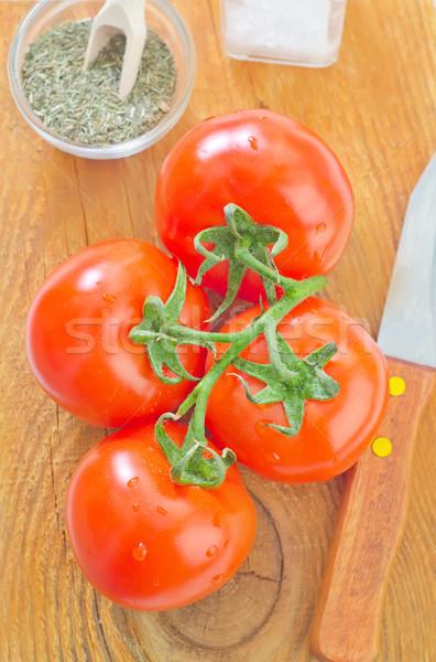 Tomate maison fond été table rouge Photo stock © tycoon