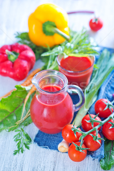Succo vetro tavola primavera frutta Foto d'archivio © tycoon