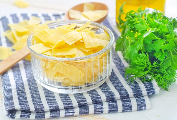 ストックフォト: 生 · パスタ · 食品 · グループ · ディナー · 袋