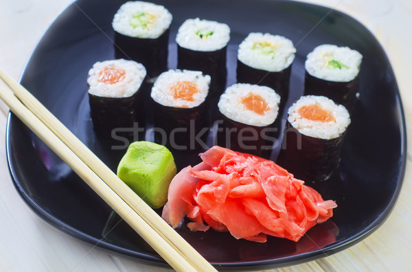 Sushi alimentare cena bianco japanese pepe Foto d'archivio © tycoon