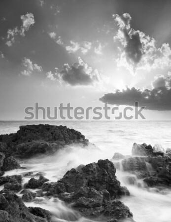 морем пляж небе солнце свет океана Сток-фото © tycoon
