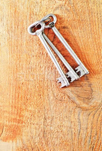 Foto stock: Clave · madera · mesa · retro · vintage