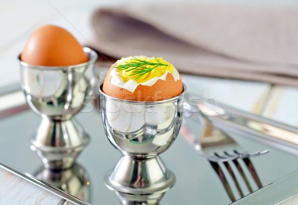 卵 カップ シェル 料理 唐辛子 ストックフォト © tycoon