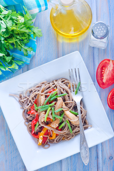 soba with vegetables Stock photo © tycoon