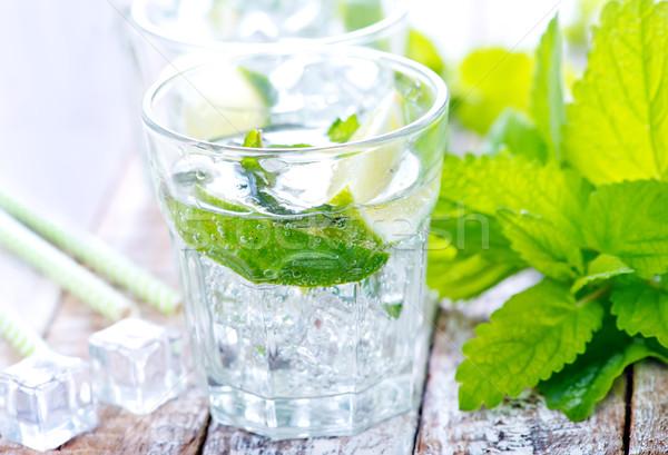 Mojito frío vidrio mesa agua alimentos Foto stock © tycoon