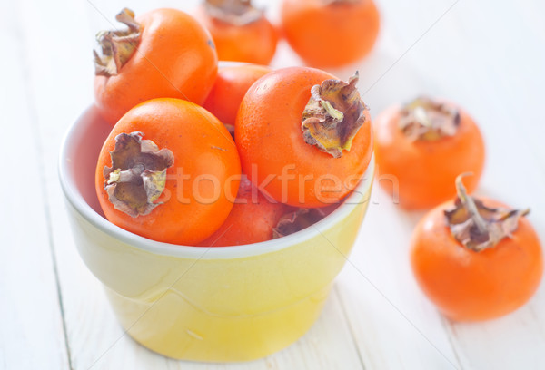 Juteuse kaki alimentaire fruits fond table Photo stock © tycoon