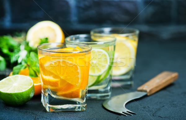 Detoxikáló ital citrus üveg gyümölcs háttér Stock fotó © tycoon