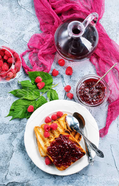 Stock photo: toasts with jam