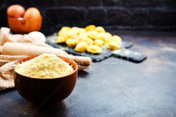 Harina tazón mesa alimentos cocina queso Foto stock © tycoon