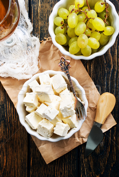 cheese and grape Stock photo © tycoon