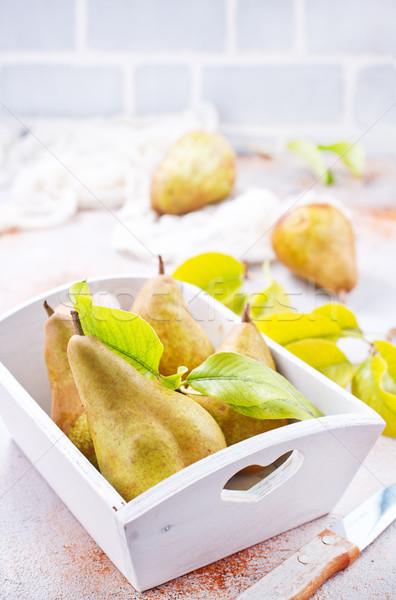 Peras frescos mesa stock foto alimentos Foto stock © tycoon
