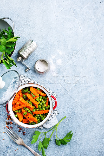carrot with peas Stock photo © tycoon