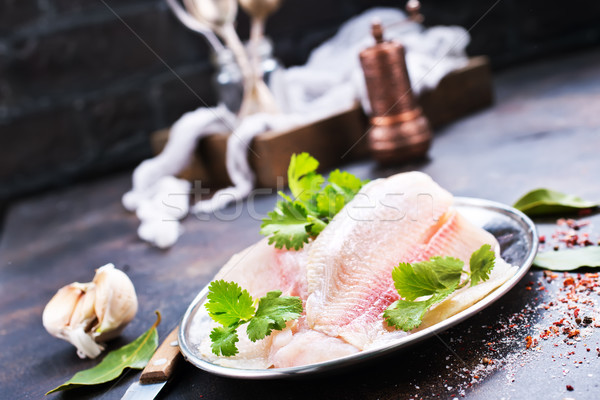raw fish fillet  Stock photo © tycoon