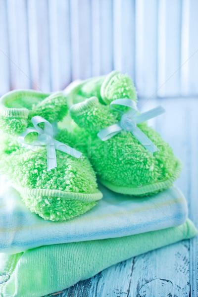 Bebé ropa aumentó cumpleanos grupo nino Foto stock © tycoon
