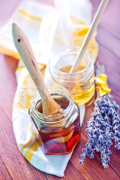 Miel madera salud fondo placa color Foto stock © tycoon