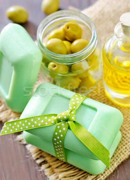 Maison savon olive bois feuille santé Photo stock © tycoon