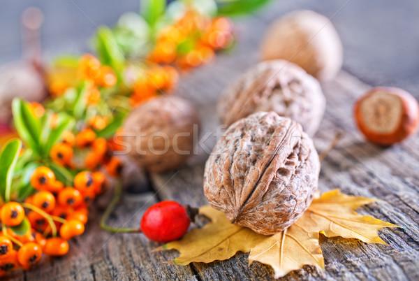 ősz fa asztal természet egészség háttér tél Stock fotó © tycoon