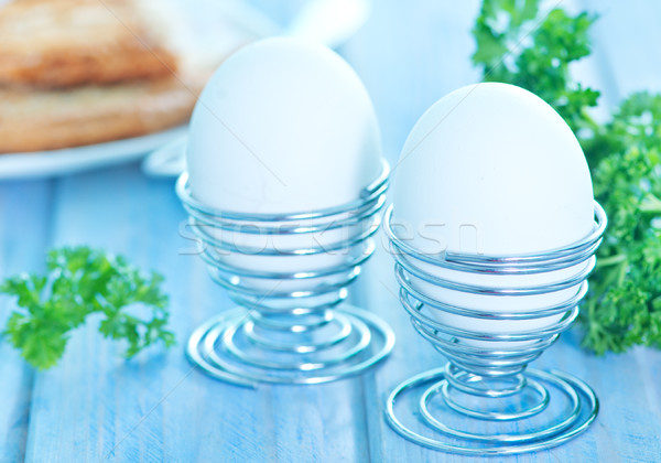 ストックフォト: 卵 · 朝食 · 表 · 背景 · グループ