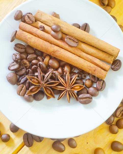 Aroma Spice alimentare design piatto nero Foto d'archivio © tycoon