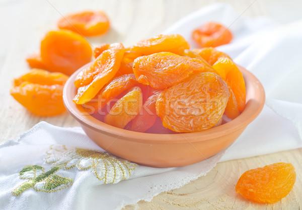 Stockfoto: Drogen · hout · vruchten · achtergrond · eten · witte