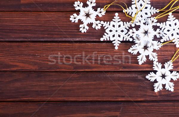 クリスマス 装飾 木製のテーブル 木材 デザイン 背景 ストックフォト © tycoon