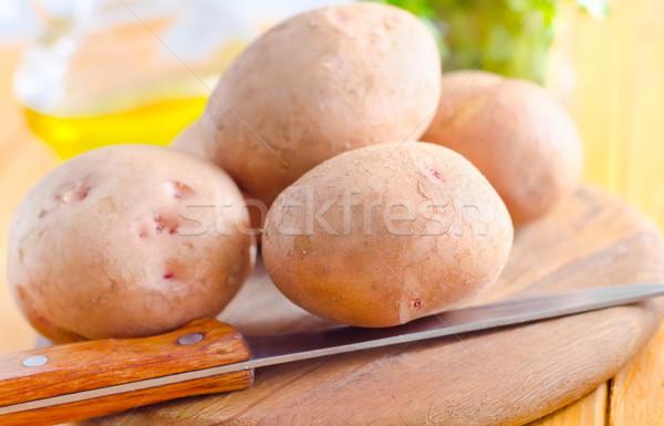 Ruw aardappel natuur gezondheid groep mes Stockfoto © tycoon