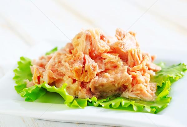 Salada salada de atum peixe verde jantar gordura Foto stock © tycoon
