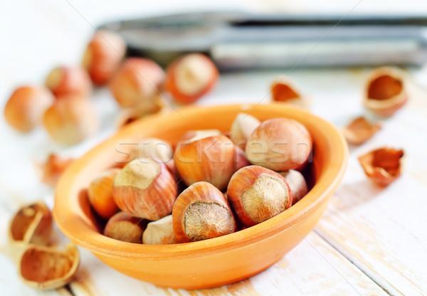 Hazelnoten voedsel natuur achtergrond energie shell Stockfoto © tycoon