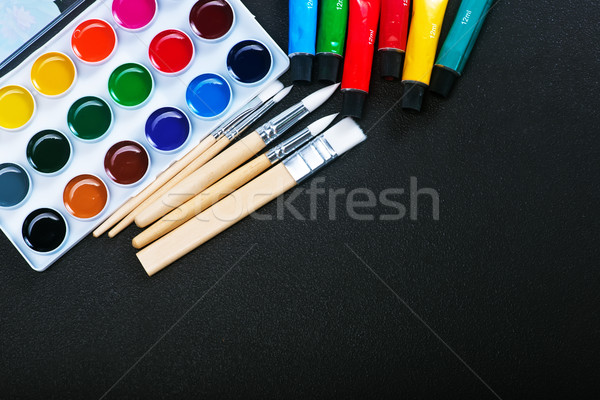 paint and brushes Stock photo © tycoon