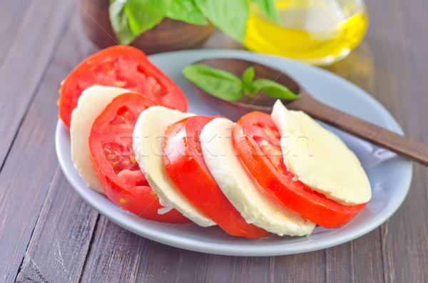 Капрезе сыра красный пластина Салат еды Сток-фото © tycoon
